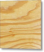 Rough Textured Plywood Grain Metal Print