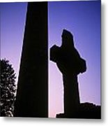 Round Tower And High Cross Metal Print
