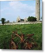Round Tower, Kilmacduagh Near Gort, Co Metal Print