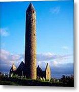 Round Tower Near Gort, Co Galway Metal Print