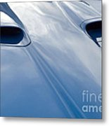 Route 66 Blue Hood Metal Print