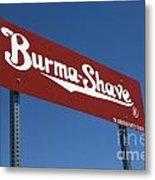 Route 66 Burma Shave Metal Print