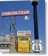 Route 66 Canyon Club Metal Print