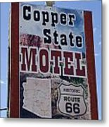 Route 66 Copper State Motel Metal Print