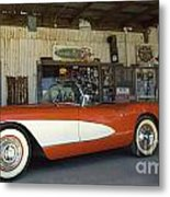 Route 66 Corvette Metal Print