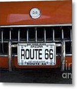 Route 66 Corvette Grill Metal Print