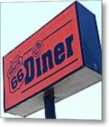 Route 66 Diner Sign Metal Print
