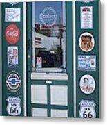 Route 66 Doorway Metal Print