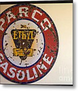 Route 66 Gasoline Sign Metal Print