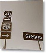 Route 66 - Glenrio Texas Metal Print