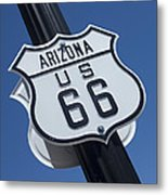 Route 66 Highway Sign Metal Print
