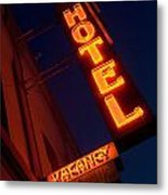 Route 66 Hotel Williams Metal Print