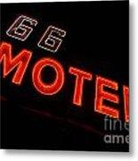 Route 66 Motel Neon Metal Print