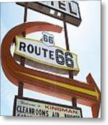 Route 66 Motel Sign 1 Metal Print
