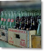 Route 66 Odell Il Gas Station Cases Of Pop Bottles Digital Art Metal Print