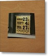 Route 66 Odell Il Gas Station Gas Prices Signage Metal Print
