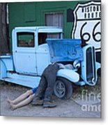 Route 66 Repair Shop Metal Print
