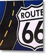 Route 66 Sign Winslow Arizona Metal Print