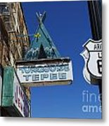 Route 66 Turquoise Tepee Metal Print