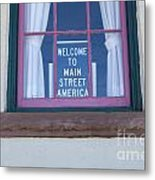 Route 66 Welcome Sign Metal Print