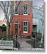 Row Home Contradiction Metal Print