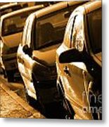 Row Of Cars Metal Print