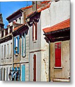 Row Of Houses In Arles Provence Metal Print