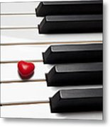 Row Of Piano Keys Metal Print by Garry Gay