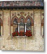 Row Of Windows In Treviso Italy Metal Print