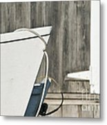 Rowboat And Boathouse Metal Print