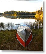 Rowboats At Jade Lake In Northern Saskatchewan Metal Print