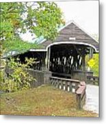 Rowell Covered Bridge Metal Print