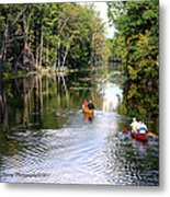 Rowing Down The River Metal Print
