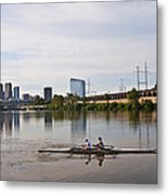 Rowing The Schuylkill Metal Print