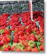 Rows Of Berries At Market Metal Print