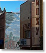 Roxy Theater And Mural Metal Print