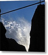 Royal Gorge Bridge And Sky Metal Print