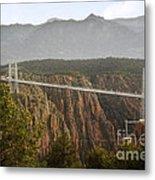 Royal Gorge Bridge Colorado - The World's Highest Suspension Bridge Metal Print by Christine Till