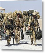 Royal Marines Haul Their Equipment Metal Print