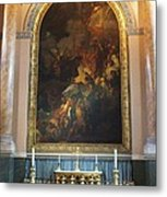 Royal Naval Chapel Interior Metal Print by Anna Villarreal Garbis