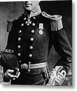 Royal Navy Officer And Antarctic Metal Print
