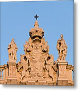 Royal Palace In Madrid Architectural Details Metal Print