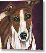 Royalty - Greyhound Painting Metal Print by Michelle Wrighton