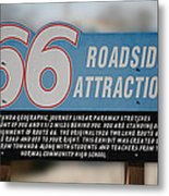 Rt 66 Towanda Il Parkway Signage Metal Print