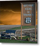 Rt 66 Towanda Signage Metal Print