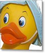 Rubber Ducky Closeup Metal Print