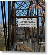 Rube Nelson Bridge 2 Metal Print