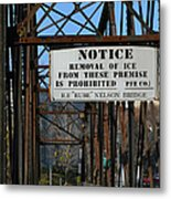 Rube Nelson Bridge 3 Metal Print