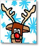 Rudolph's Portrait Metal Print by Jera Sky