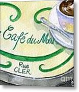 Rue Cler Cafe Metal Print